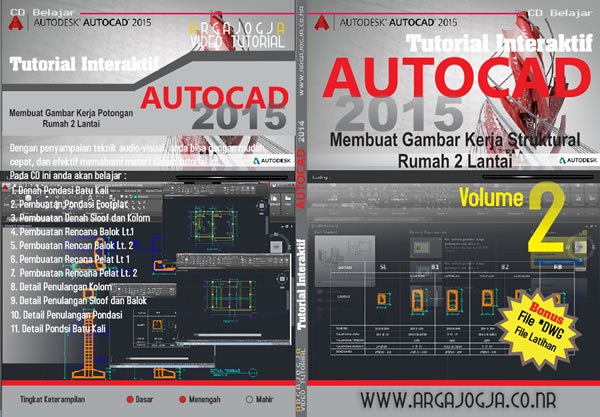 Cover Full AutoCAD 2015 vol. 2 Gambar Struktural