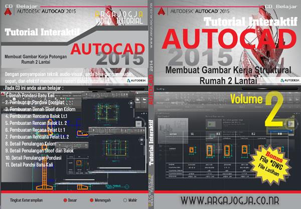 Cover Full AutoCAD 2015 vol. 2 Gambar Struktural