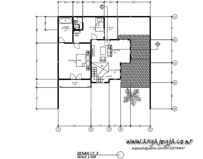 Denah lantai 2 Rumah Klasik