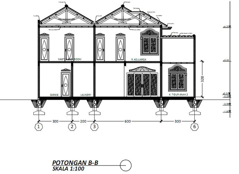 Potongan B Rumah Classic