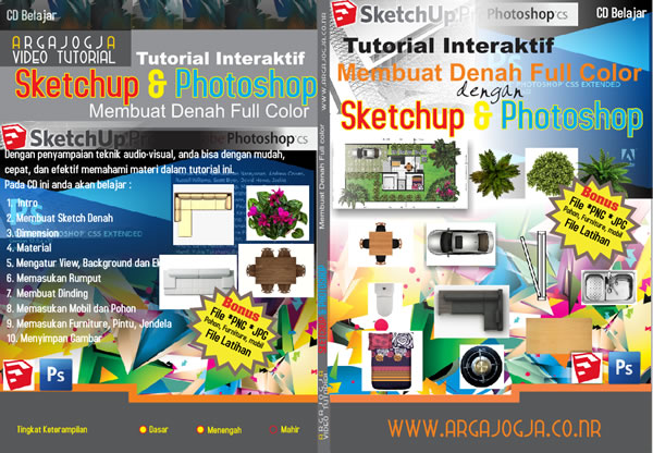 Cover Video Tutorial Membuat Denah Full Color dengan Sketchup & Photoshop