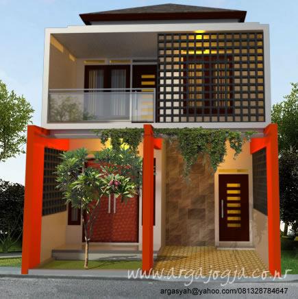 Desain Eksterior Rumah 2 Lantai Fasad Kotak