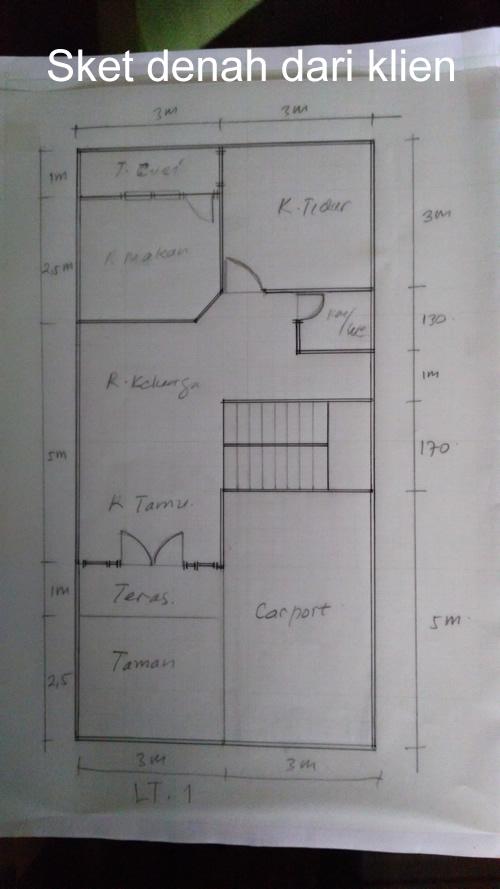 Sket Denah lantai 1