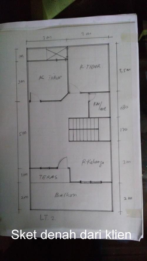 Sket Denah lantai 2