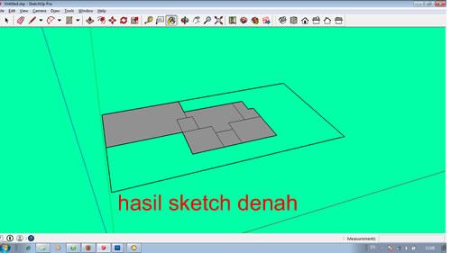 Hasil Sketch Denah