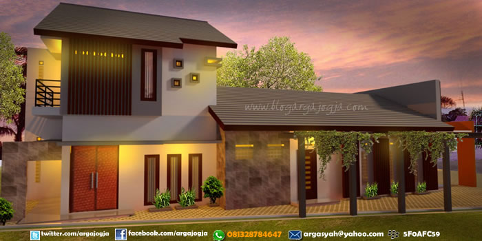 Desain Fasad Rumah Toko