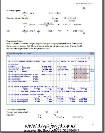 Output SAP untuk Kolom