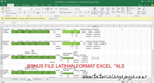 Bonus File Latihan Format Excel