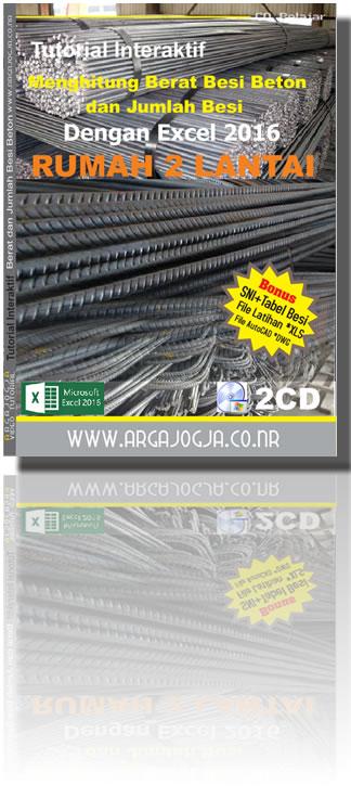 Cover Tutorial Excel 2016 Berat Besi Beton dan Jumlah Tulangan