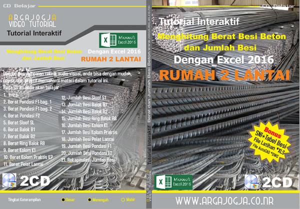 Cover Tutorial Excel 2016 Menghitung Berat Besi dan Jumlah Besi Rumah 2 Lantai