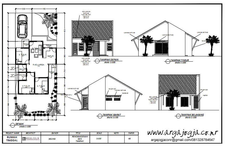 Desain Rumah Tropis Sederhana 1 lantai