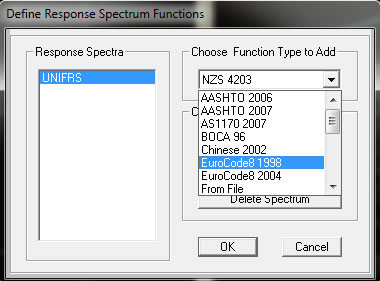 Respon Spectrum pada SAP2000