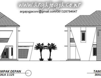 3 Ide Fasad Gambar Kerja Tampak Rumah 2 Lantai Lebar 15 Meter