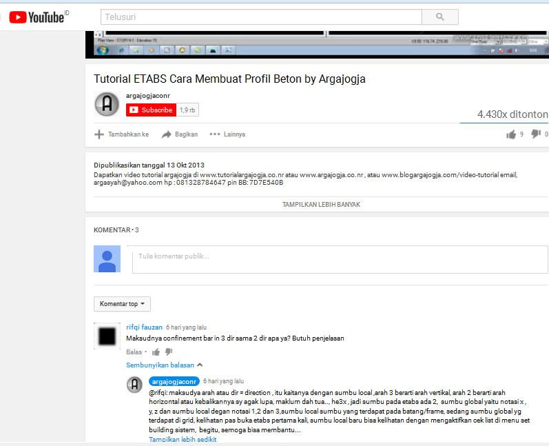 Komentar di Youtube