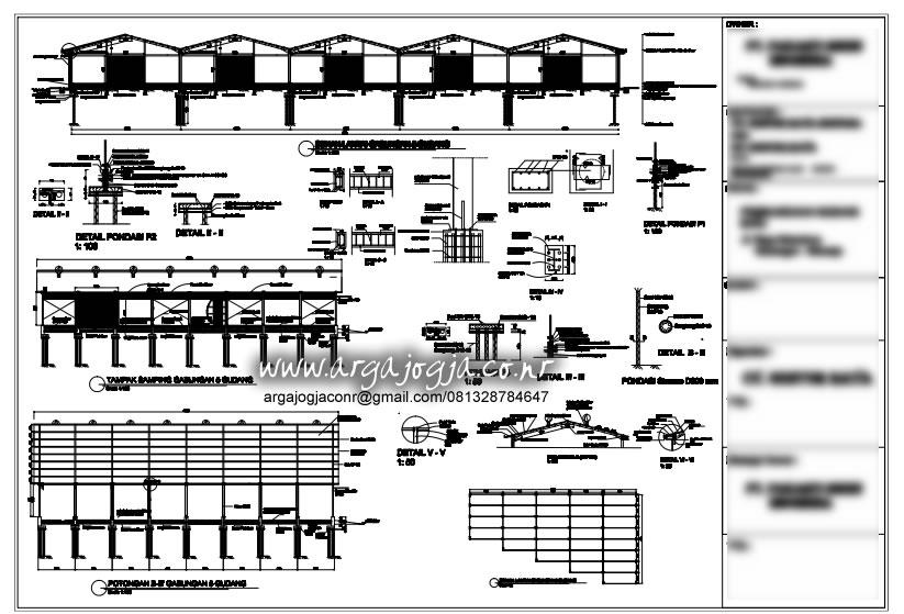 Gambar Struktur Gudang Baja