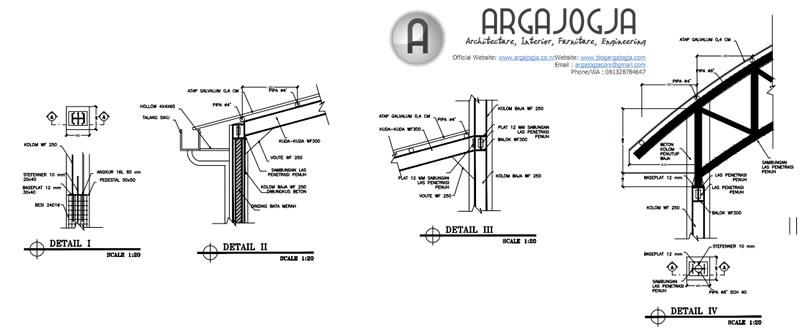 detaila baja gedung olah raga
