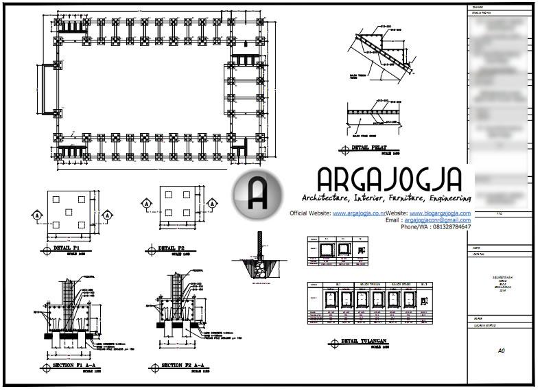 Contoh Gambar Kerja Desain Gedung Olah Raga Struktur Baja ...