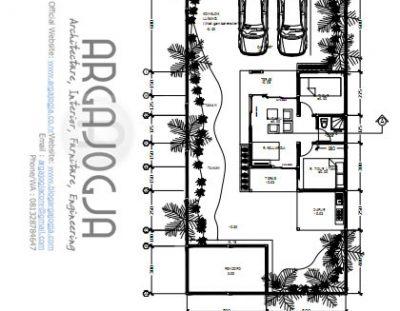 Gambar Kerja Rumah Tropis Sederhana dengan Pendopo Kecil