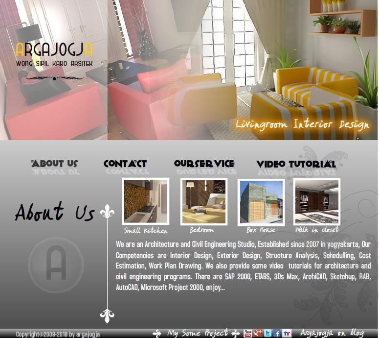 tampilan web site argajogja.com
