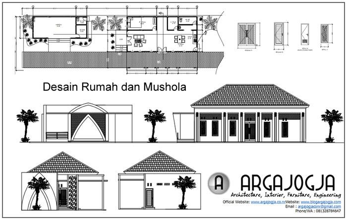 Desain Rumah Dengan Mushola Minimalis di Depannya