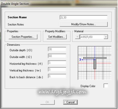 Input Profil Double Angle 2L30