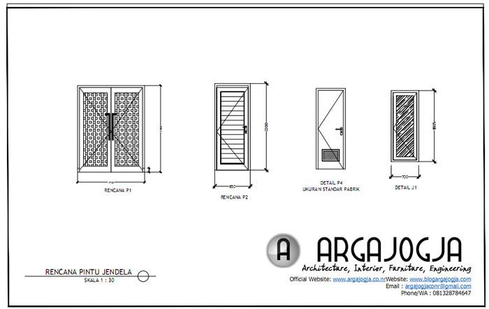 Rencana Pintu dan Jendela