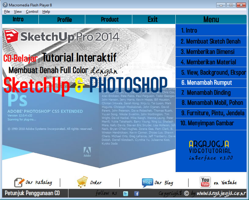 Contoh Video Demo Tutorial Argajogja via CD