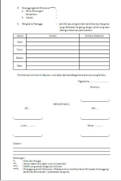 Contoh Formulir IMB hal 2