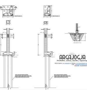 Desain Struktur Kos-Kosan 2 Lantai di Tanah Sawah