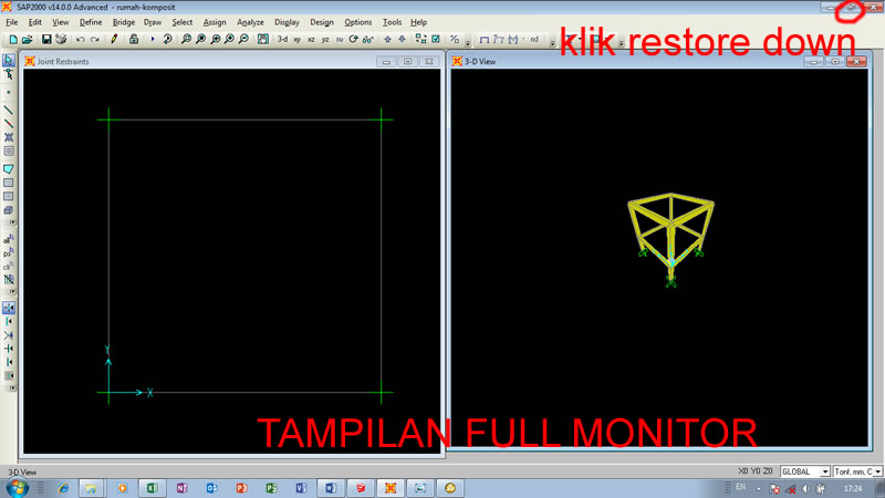 Tampilan SAP full monitor