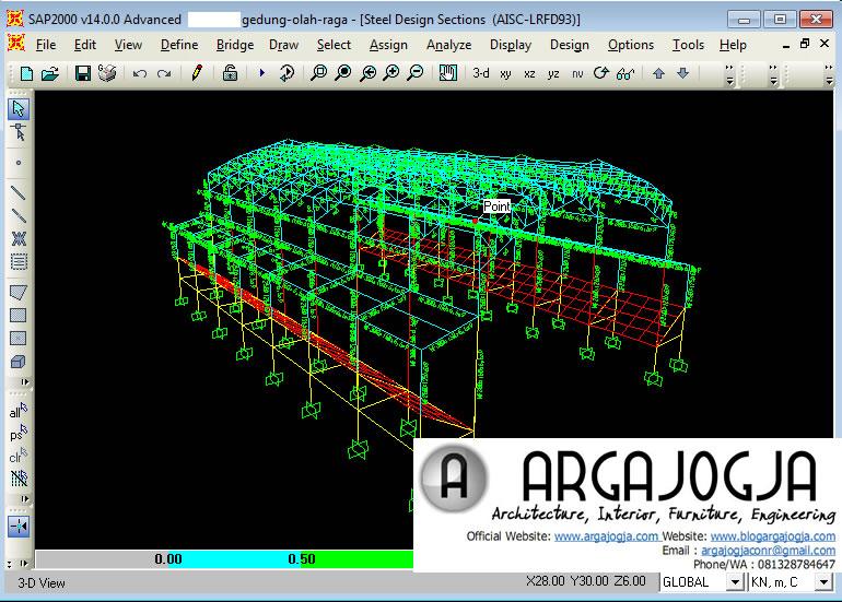 Hasil Analisa dan Desain SAP2000 AISC-LRFD