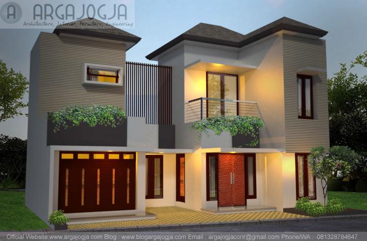 Desain Toko dan Rumah 2 Lantai Simple Minimalis