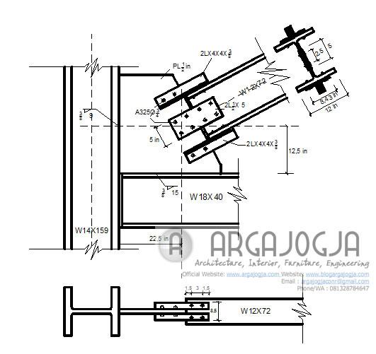 sambungan balok bracing
