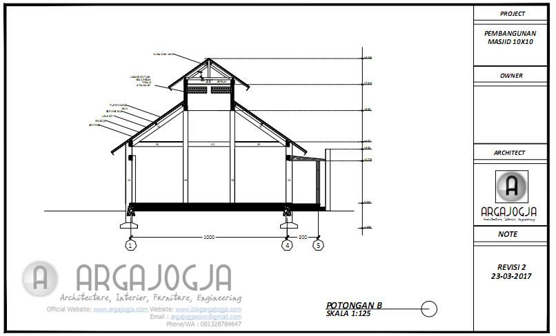 Desain Masjid Potongan B