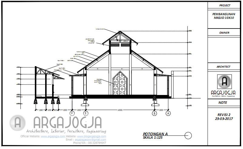 Potongan A Desain Masjid