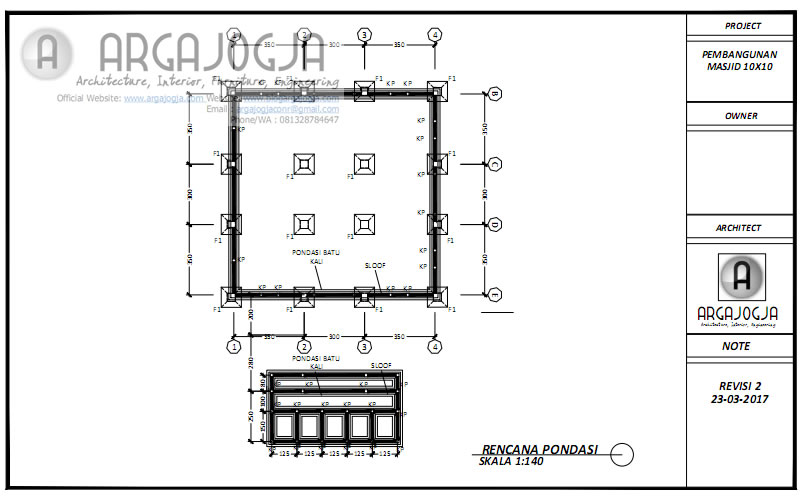 Rencana Pondasi Masjid