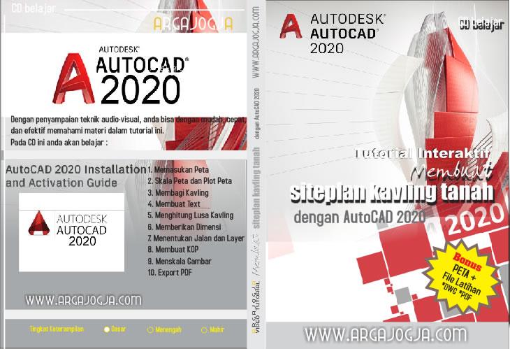 Cover Tutorial AutoCAD 2020 Membuat Kavling Tanah Siteplan