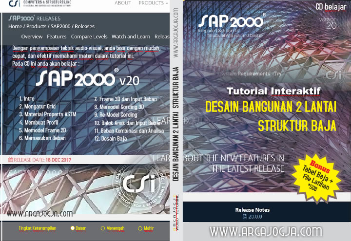 Cover Video Tutorial Desain Baja 2 Lantai