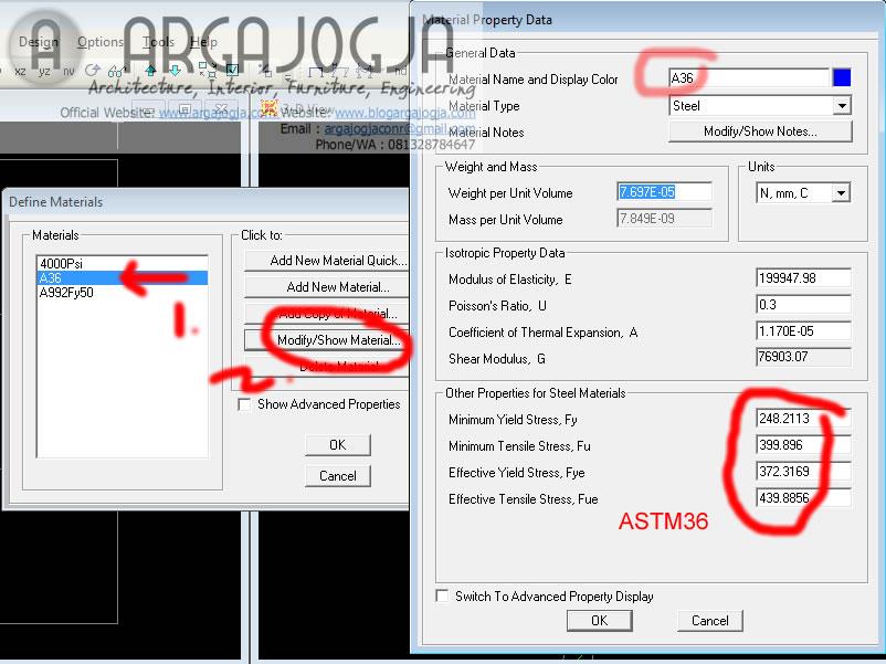 material properti astm36
