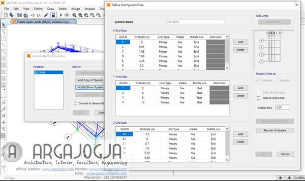 Mengatur Grid SAP2000