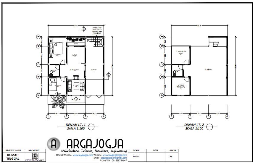 Denah Desain rumah ruang usaha