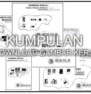 Kumpulan Download Gambar Kerja Desain Rumah, Kos, Mushola dan Masjid