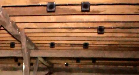 sirip plafon pada gedung walet