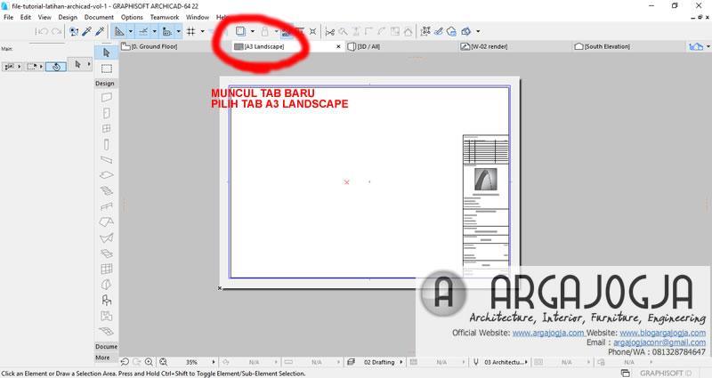 pilih tab a3 landscape