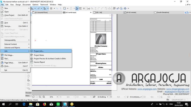 cara merubah project info