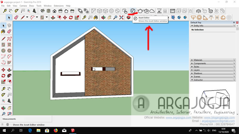 Toolbar Vray 4 Sketchup Seeting Material