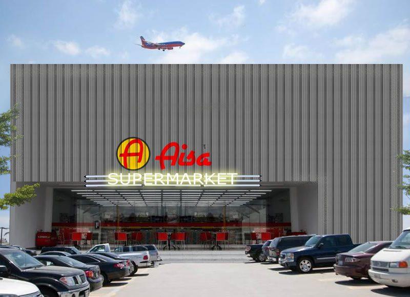 Desain Fasad Galvalum Supermarket