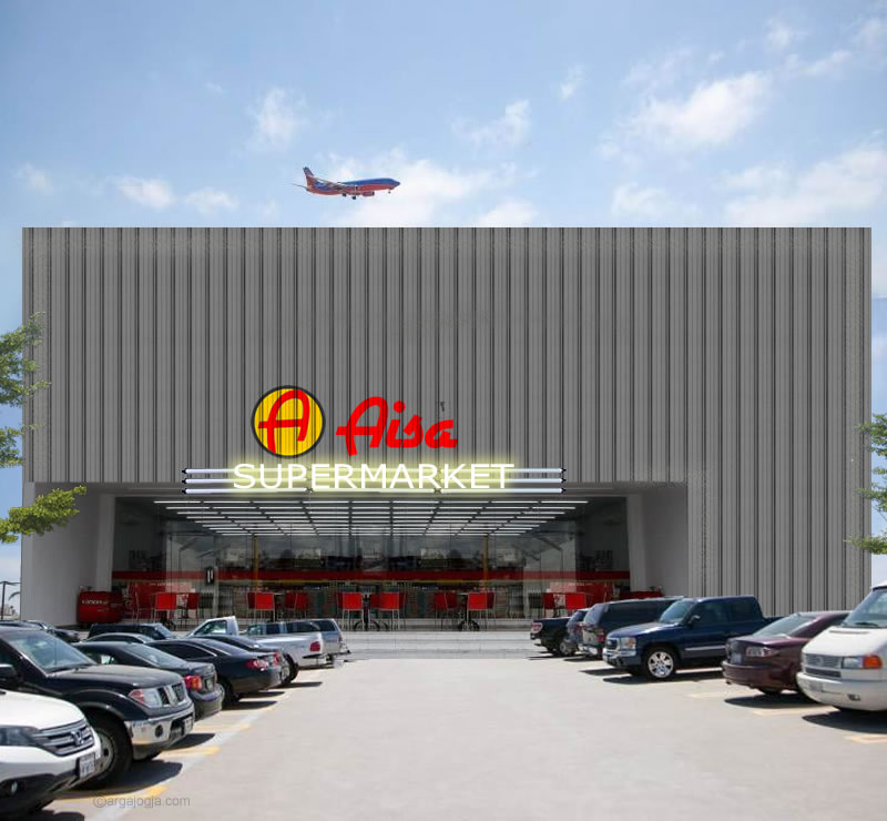 Desain Supermarket Fasad Galvalum