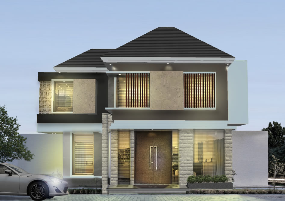 Desain Rumah Mewah 2 Lantai Argajogja