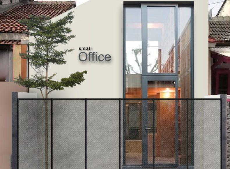 Desain Fasad Sederhana Kantor Kecil Minimalis